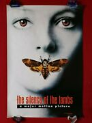 The Silence Of The Lambs 1991 Original Movie Poster Style A Teaser Ds Halloween