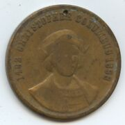 Exonumia Columbian Worlds Fair Medal 9270 Columbus In Sight Of The New World.