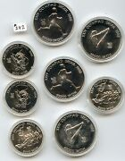 Four 1988 So. Korea Olympic Sets 242 5000 Won Tiger And Tug Of War And 10000