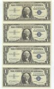 1957a Four Consec. 1 Silver Certificates. Nice Crips Unc. 1670
