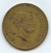 1909 Abe Lincoln. Medal 7376 Outlet Co. Prov. Ri. Nearly Unc. Some Staining.