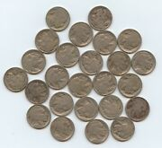 1916 Buff. Nickels Twenty Five Pcs 10148 Low Grade Or Better With Problems