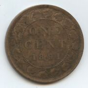 Canada Large 1c 1891 Sm. Dt. Ll 1296 Vf. Cleaned And Some Spotting.