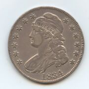 1834 Bust Half 9665 Nice Xf But Has Some Flatness On Obv.