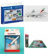 Toy Airplane Playset Diecast Planes Andaccessories United Emirates Qantas Airlines