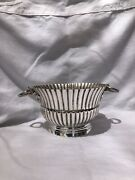 Rare Vintage Mexican Sterling Silver Hand Hammered Trophy Bowl