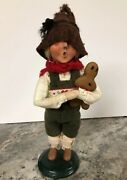 """10"""" Byers Choice Carolers Hansel W Gingerbread Man Cookie 2011 Signed"""