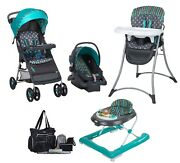 Baby Boy Combo Set Stroller With Car Seat Activity Walker High Chair Diaper Bag