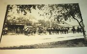Rare Antique American Wwi Soldier Funeral Draped Coffin Real Photo Postcard Rppc