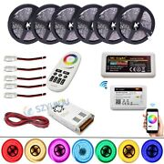 5050 Rgbw Led Strip With Wifi Controller +2.4g Rf Remote +amplifier Led Power
