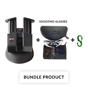 Bundle Fobus R Double Magazine Pouch For Walther Ppq, 9mm / M2 / Springfield Xd