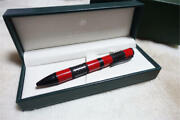 Monteverde Ballpoint Pen Regatta Red With Case Stationery Free Shipping