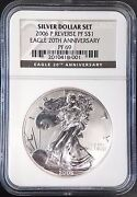 2006 P Reverse Proof Silver Eagle, 20th Anniversary, Graded Pf 69 By Ngc