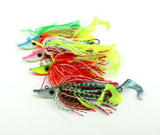 4pcs Squid Head Fishing Lure Rubber Skirt Saltwater Fishing Lures Jigs Tackle