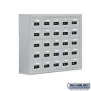 Cell Phone Lockers - 25 Doors - Surface Mounted - Resettable Combination Locks