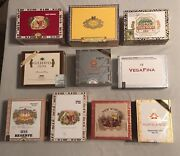 Lot Of 10 - Decorative Paper And Wooden Cigar Boxes Nice Varietyseptember Sale