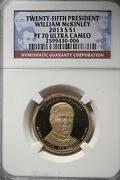 2013 S Presidential Dollar William Mckinley Ngc Pf70 Ultra Cameo