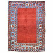 Hand-knotted Tribal Caucasian Design Handmade Pure Wool Rug 5.0 X 6.9 Brral-4821