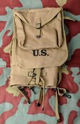 Us Haversack M28 Backpack Tactical Ww2 M1928 Army Khaki Webbing Infantry