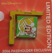 Disney Wdw Passholder Exclusive Puzzle 2006 Epcot Mickey Spinner Le 7000 Pin