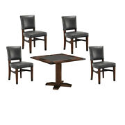 Whiskey Barrel Rustic Board Card Game Table And Matching Chairs