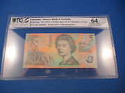 1992 Ab19 Fraser Cole 5 Rare Light Green Polymer. Pcgs 64 Choice Uncirculated