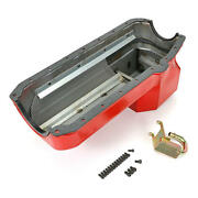 Hamburger Engine Oil Pan 1099 Econo-series Drag Race 7qt Red For Chevy S-10 Sbc