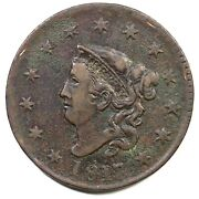 1817 N-7 R-7+ Rare No Mouse Matron Or Coronet Head Large Cent Coin 1c