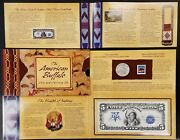2001 American Buffalo Coin And Currency Set Coin Stamp And 1899 5.00 Print