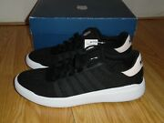 New K-swiss Womenand039s Heritage Light Sneaker Shoes Black Creole Pink White Size 11