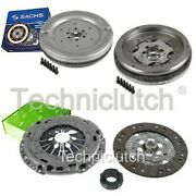 Valeo 3 Part Clutch Kit And Sachs Dmf For Vw Caddy Estate 1.9 Tdi