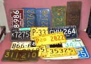 Lot Of 17 Vintage Mixed Usa States Car License Plates 1959/64/71/79.