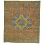 Hand-knotted Mamluk Egyptian Design Traditional Wool Rug 8.0 X 9.10 Brral-1095