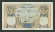 France 1000 Francs 1939 P90c About Uncirculated Banknotes