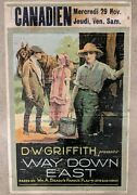 Dw. Griffith Way Down East Original Poster