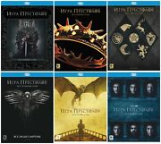 New Game Of Thrones The Complete Seasons 1-6 Blu-ray, 2017 English,russian