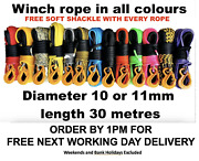 Synthetic Winch Rope Uhmwpe Choice Of Size 9 10 Or 11mm Free Soft Shackle