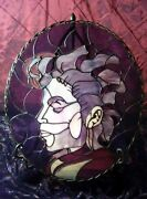 The Purple One Genuine Stained Glass Original Artwork Must See