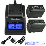 Kastar Battery Lcd Fast Charger For Sony Np-f770 Sony Gv-d800 Gv-d900 Gv-hd700e