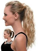 Thick Long Curly Wavy 100 Remy Human Hair Ponytail Wrap Clip In Extension