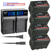 Kastar Battery Lcd Rapid Charger For Sony Np-f770 Sony Gv-d800 Gv-d900 Gv-hd700e