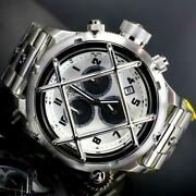 Russian Diver Nautilus Cage Swiss Mvt Steel Silver 52mm Chrono Watch New