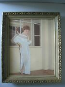 Vintage Oil Painting..beautiful ' Young Lady In Nightgown ' Rolf Armstrong Pinup