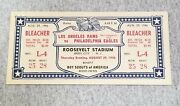 Los Angeles Rams First Nfl Game Ever - Full Ticket - 1946 - Eagles Vs Rams