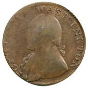 1795 Baker-34 Plain Edge North Wales Half Penny Colonial Copper Coin