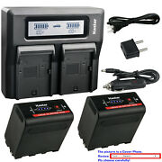Kastar Battery Lcd Fast Dual Charger For Sony Np-f960 Gv-d800 Gv-d900 Gv-hd700e
