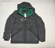 Mens Abercrombie And Fitch Water Repellent Down Quilted Wool Jacket Size L Xl