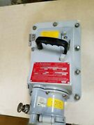 Appleton Electric Ebrh1034dsrs Receptacle, Disconnect Switch, 100a, 3w, 4p