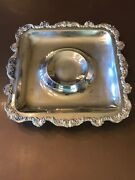Vintage Epca Old English Silverplate By Poole 5039 Square Serving Tray 15