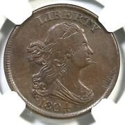 1804 C-6 Ngc Au 55 Rare Manley 10.2 Spiked Chin Draped Bust Half Cent Coin 1/2c